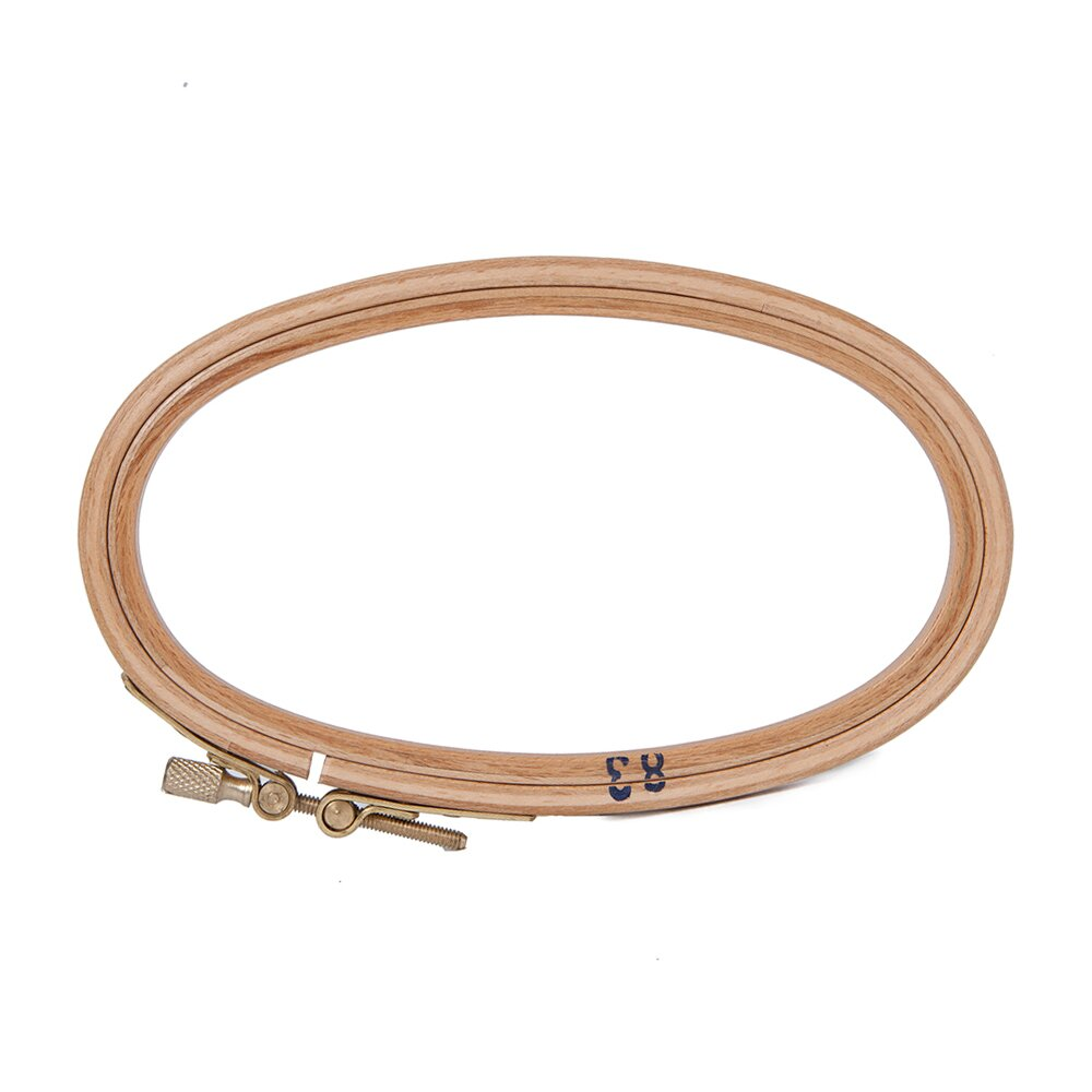 Wooden Embroidery Hoop - 6u0026quot; X 3.5u0026quot; Oval - Access Commodities